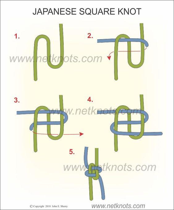 Japanese Square Knot :: netknots