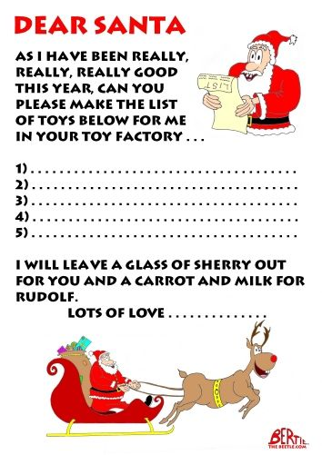 Letter To Santa, free letter to santa template Christmas Ideas - free templates for letters
