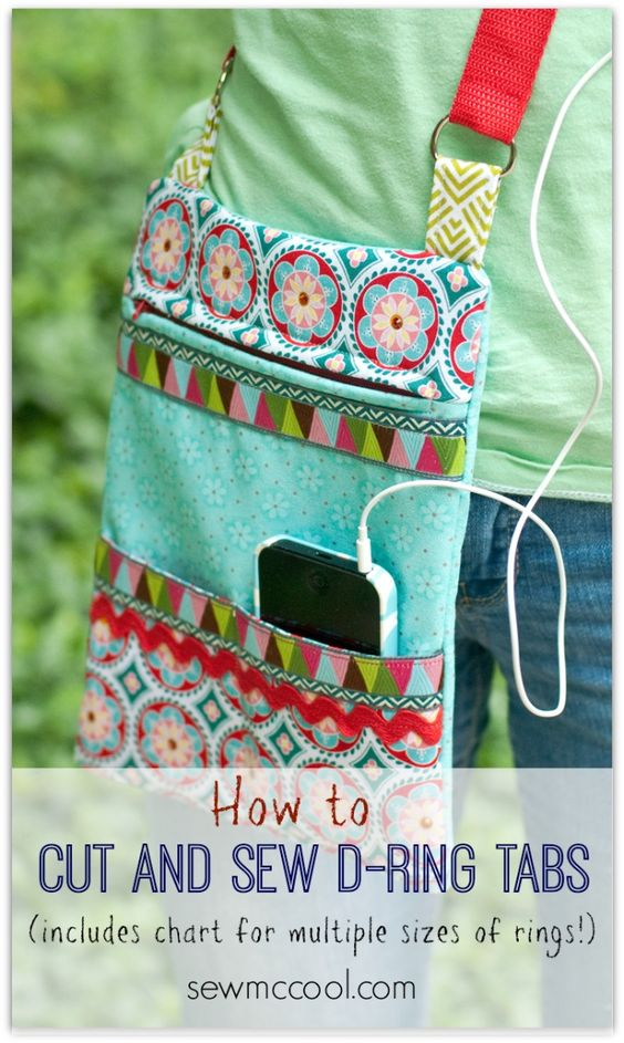 How to sew ring tabs for straps by sewmccool.com
