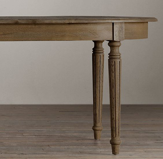 Vintage Table Hardware : Vintage french fluted leg dining table from restoration