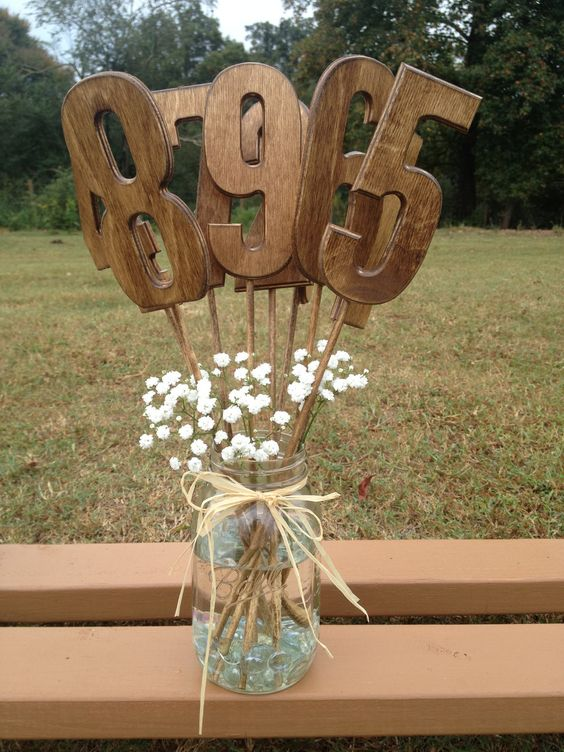 Rustic Style Wedding Table Numbers - Set Includes Numbers 1-12 - Shabby Chic - Wooden Table Numbers. $60.00, via Etsy.