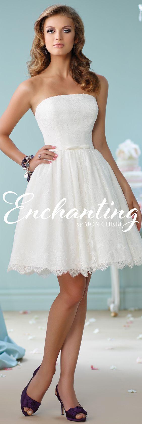 Enchanting by Mon Cheri Spring 2016 ~Style No. 116122 #shortweddingdress
