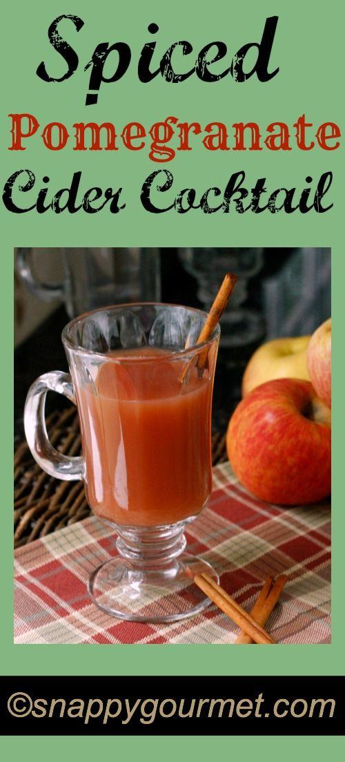 Spiced Pomegranate Cider Cocktail | Recipe | Cider Cocktails ...