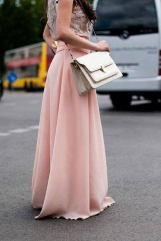 Pink maxi, Maxi skirts and Maxis on Pinterest