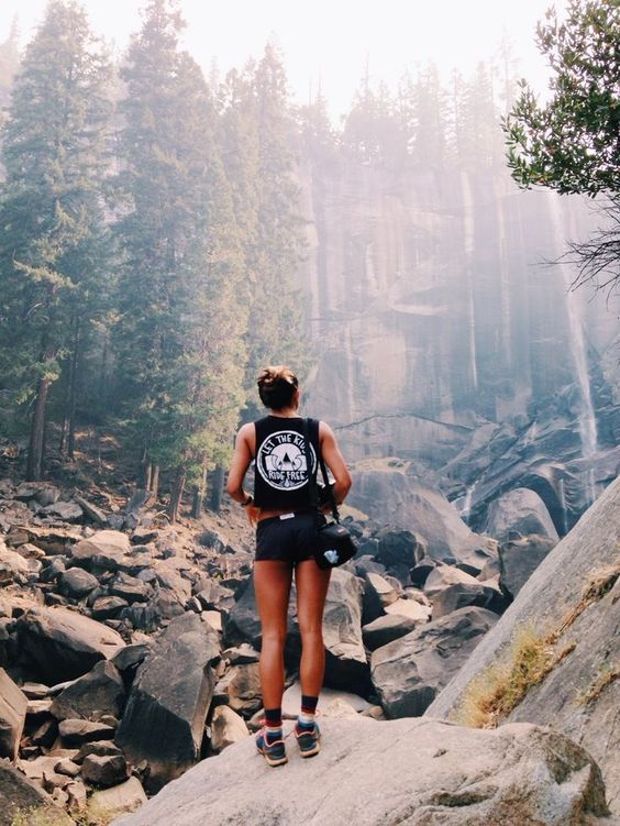 Hiking outfit, outdoors outfit, shorts