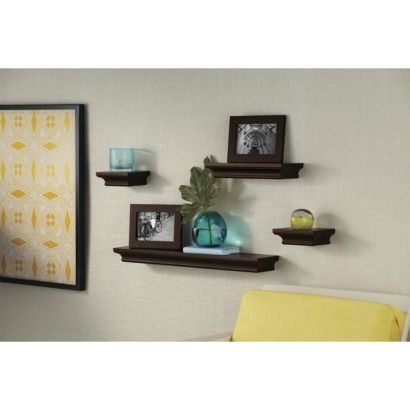 Threshold wall shelves frame set of 6 comfy home - Shelving for picture frames ...