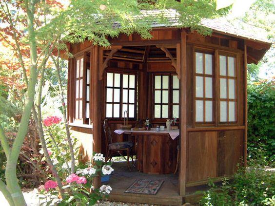 Japanese gazebo plans garden art pinterest outdoor for Japanese garden shed