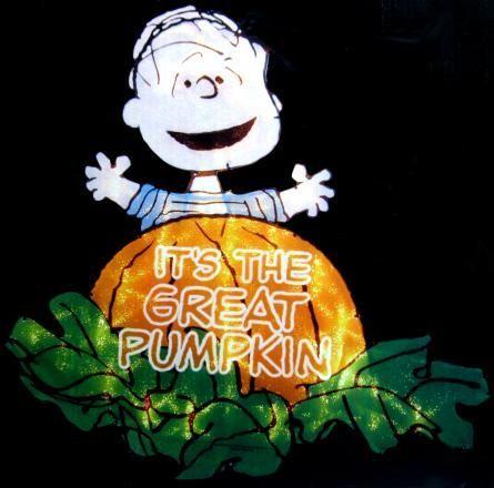 Linus Great Pumpkin Lighted Window Decor