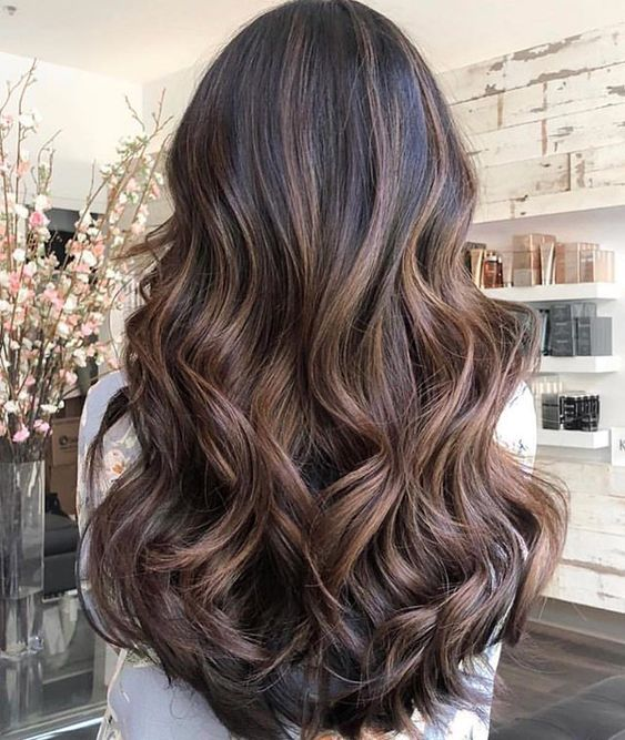 Gorgeous brown hair color