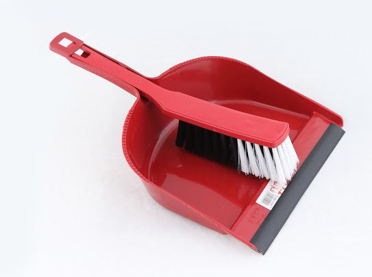 جاروف فرشة بجلدة تمه تمه قروب نظافة تنظيف مكانس Dust Pan Dish Soap Brooms
