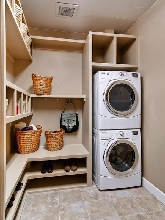 Create more space in the laundry area with stackable washer and dryer get organized - Washers and dryers for small spaces pict ...