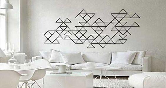 d co graphique et g om trique pour murs et meubles peintures murales bande et ruban de masquage. Black Bedroom Furniture Sets. Home Design Ideas