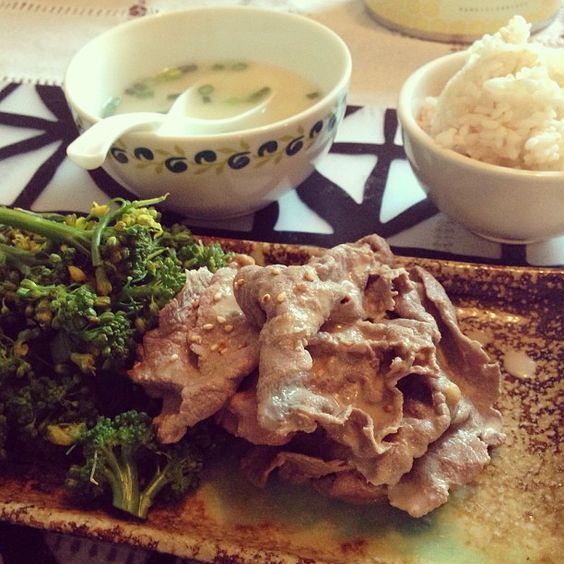 Sesame shabu shabu beef. #japanesefood