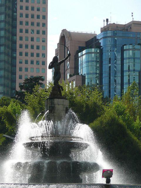 Diana fountain, Paseo de la Reforma  - Mexico City, MEXICO.