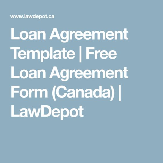Loan Agreement Template  Free Loan Agreement Form Canada