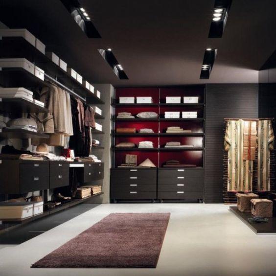 Begehbarer -Kleiderschrank \/ Wandmontage \/ modern \/ Holz \/ High - begehbarer kleiderschrank modular system