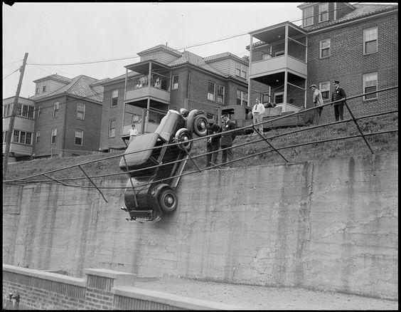 Auto accidents, Boston, 1940s/50s