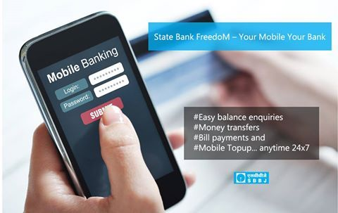 State Bank FreedoM – Your Mobile Your Bank State Bank FreedoM offers -convenient, simple, secure, anytime and anywhere banking.  Register for the Mobile Banking Service available over any of the following 4 modes: 1) Application Based (SMS/GPRS) 2) Wireless Application Protocol(WAP) 3) Unstructured Supplementary Services Data(USSD) 4) SMS Banking  For details visit sbbjbank.com