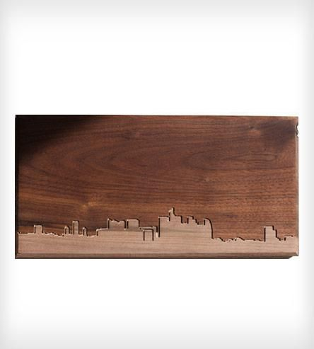 Paris Skyline Wood Art by Dave Marcoullier on Scoutmob Shoppe -  solid walnut