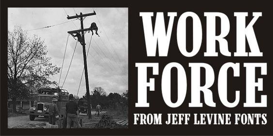 Work Force JNL font download