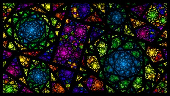 i wish the windows in my house were like this! but i guess ill just have to settle for stained glass computer wallpaper for now lol. sized at 1366 x 768, if youd like to do the same. created in apo...