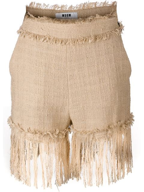 MSGM fringed shorts