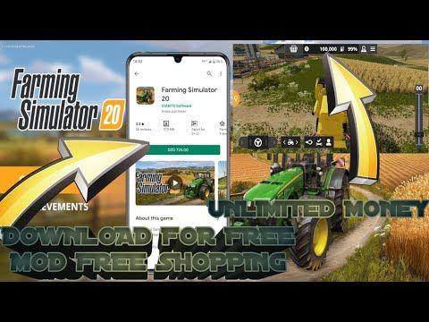 How To Download Farming Simulator 20 Mobile Android Ios Farming Simulator 20 Mod Free Shopping Youtube In 2020 Farming Simulator Simulation Farm