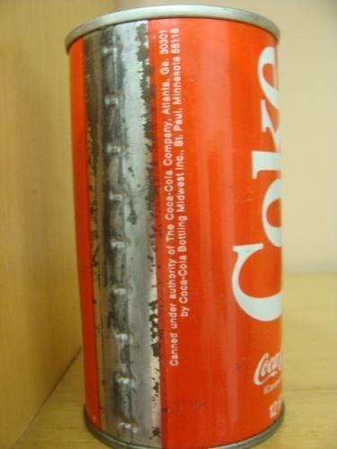 coca-cola lata antiga década de 70