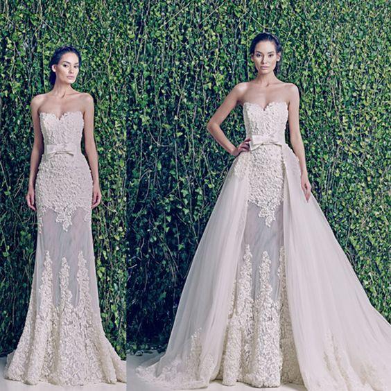 Sweetheart See Through Detachable Skirt Wedding Dress Sexy Fashion Bow Belt Vestidos De Noivas 2014 Sexy (WND39) photo,Details about Sweethe...