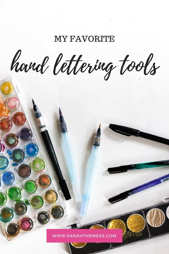I've been obsessed with hand-lettering for awhile (check out my watercolors  for…