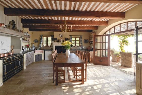 grand kitchen entrance french riviera