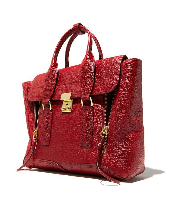 COLOR STORY RED: The Phillip Lim Pashli with punch.