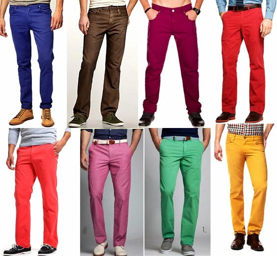 Cool colored chinos