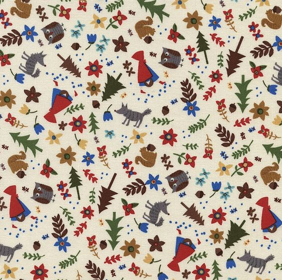 Print: Tossed Red Riding Hood    Collection: Fun    SKU: Fun C2697    Manufacturer: Timeless Treasures    100% Cotton    44 inches wide