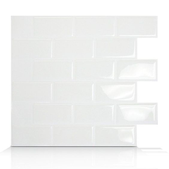 Shop Smart Tiles SM102 Subway Self Adhesive Wall Tile at Loweu0027s Canada.  Find our selection