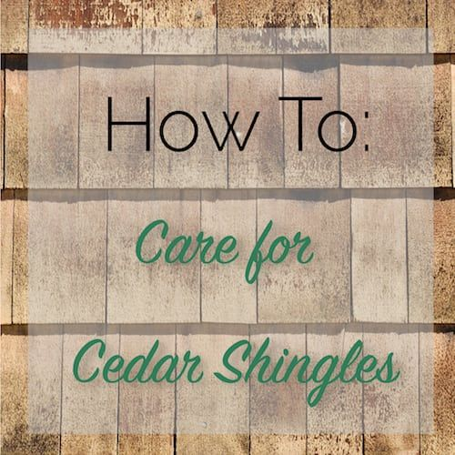 How To Care For Cedar Shingles The Craftsman Blog Cedar Shingles Cedar Shingle Roof Cedar Shake Roof