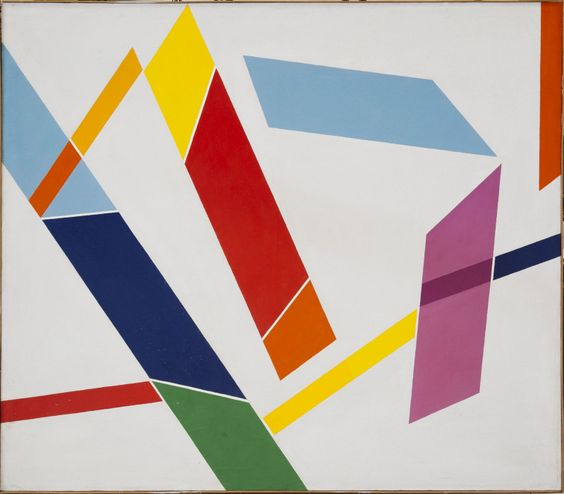 René Roche (1932-1992) Signes dans l'espace, 1982 Acrylique sur toile Signée et datée '82'.