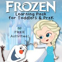 Free FROZEN Learning Pack for Toddlers & PreK