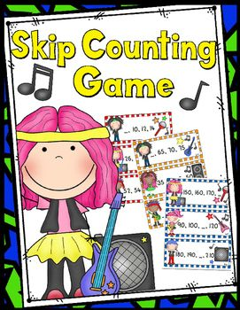 Game: Counting by 2, 5, 10 - 36 Task Cards!