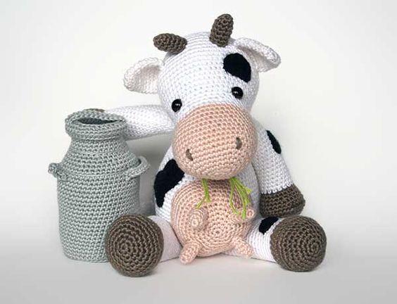 Amigurumi Easter Patterns Free : Klaartje the cow amigurumi pattern by Christel Krukkert ...
