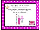 How Big is a Foot measurement activity