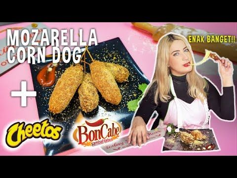 Cooking With Tasyi Ep 01 Resep Mozzarella Corn Dog Terenak Pake Bon Cabe Dan Cheetos Asmr Youtube Corn Dogs Corn Cheetos