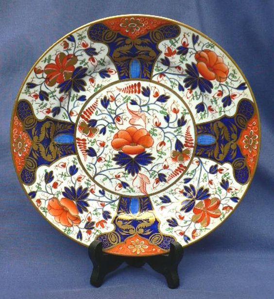 Early Georgian 19th Century Derby Imari Porcelain Plate Red Crown Mark CA 1810 | eBay