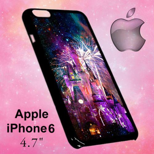 ER1200 Disney Castle Fireworks Design On Nebula Iphone 6 Case | BirlynaCase - Accessories on ArtFire
