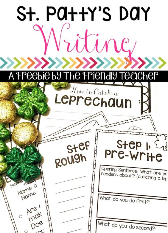 St Patrick's Day writing activity! This teaching students How-To writing while writing about How-To catch a Leprechaun! A perfect way to mix writing and St. Patty's Day cheer!