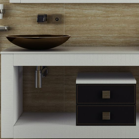 moderne minimalistische Badmöbel Waschtisch rund freistehend Waschtisch Kunststoff