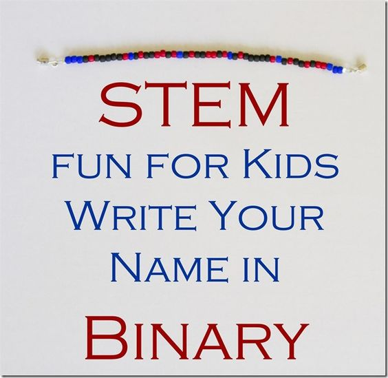 How to write a name in binary code
