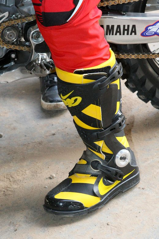 Black Yellow Nike Motocross Boots Kicks Pinterest