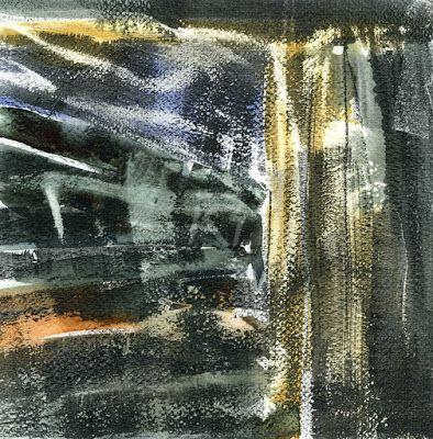 GRISAZUR: Acuarela y grafito sobre papel, 20x20 cm.Nov.24, 2...