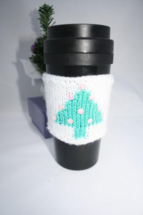 coffee cup cuff cozy sleeve stocking stuffer by sweetygreetings, £2.50